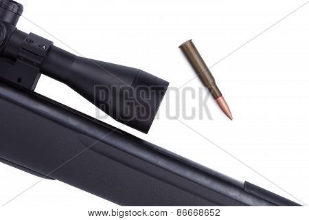 Close-up Of Riffle With Bullets