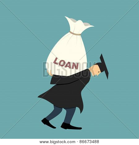 Graduate under burden of loan