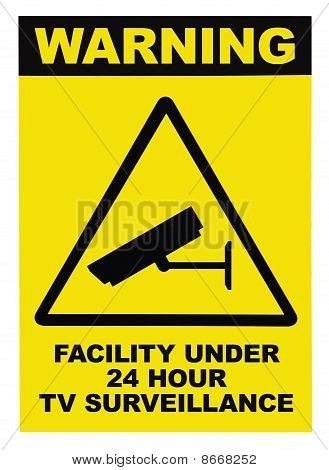 Facility Protected By Video Surveillance Text Sign