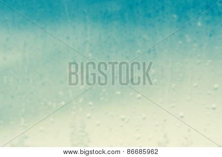 Raindrops On Window Background Blur