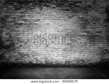 White Murky Brick Wall