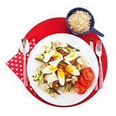 Indonesian vegetarian food Gado Gado with egg poster