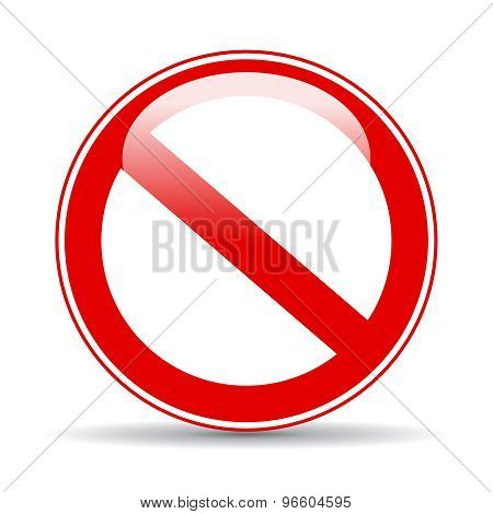 Blank no restricted sign