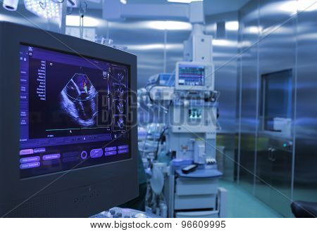 Ultrasound Monitoring Of The Heart During Surgery