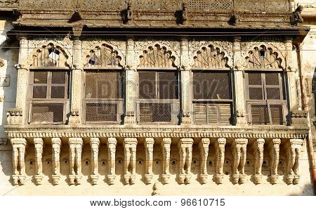 Old palace building development in the Junagadh city in Gujarat state in India poster