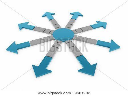 3d blue gray arrow circle