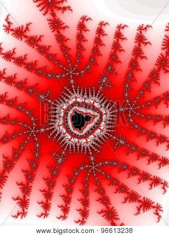 Red fractal Mandelbrot
