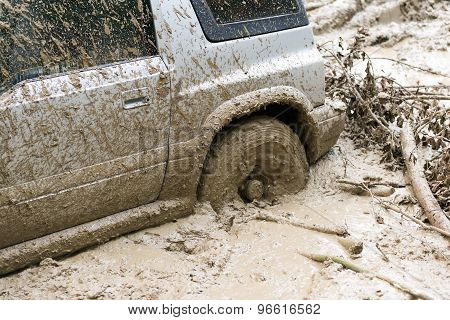 Car Stuck In Mud