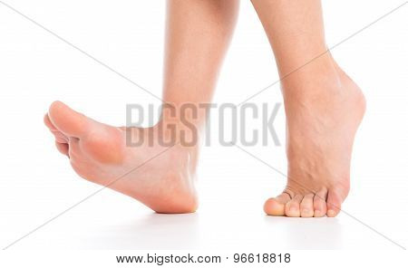 Woman Foot Isolated On White