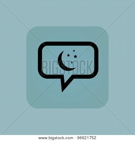 Pale blue night message icon