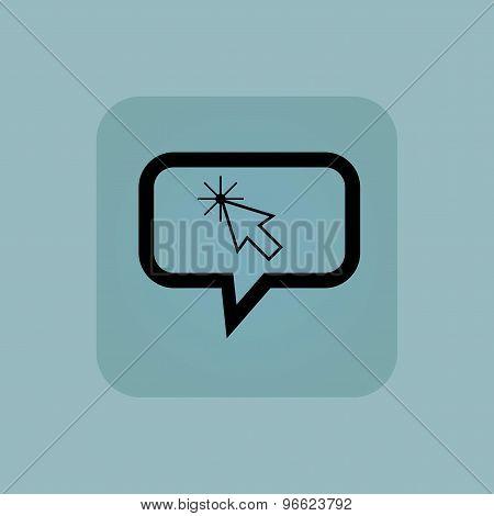 Pale blue arrow cursor message
