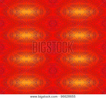 Seamless pattern red orange
