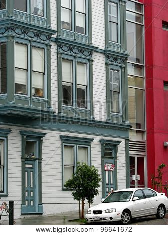 SAN FRANCISCO, CA - NOVEMBER 16: Typical residential architecture in San Francisco  2012