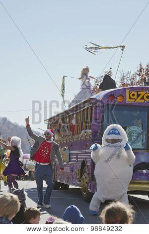 Zany Lazoom Fun In The Asheville Christmas Parade