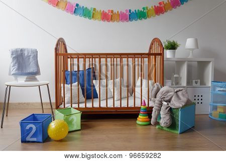 Toys In Modern Baby Bedroom