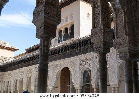 Between Columns At Alhambra