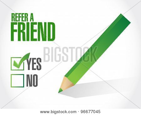 Refer A Friend Sign Concept Illustration