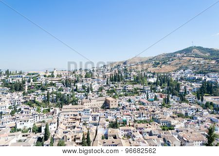 View Of The Albayzin From Alhambra