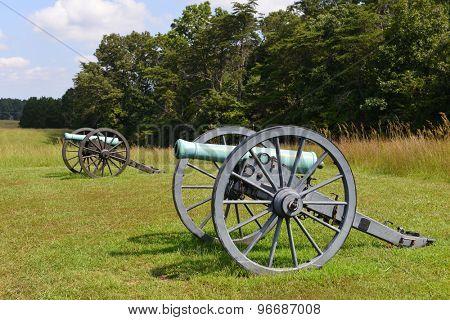 Old cannon in Manassas National Battlefield Park, Virginia.