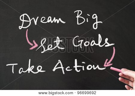 Dream Big, Set Goals And Take Action