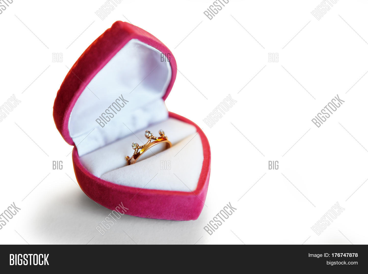 Engagement ring box shaped heart on image photo bigstock for Heart shaped engagement ring box