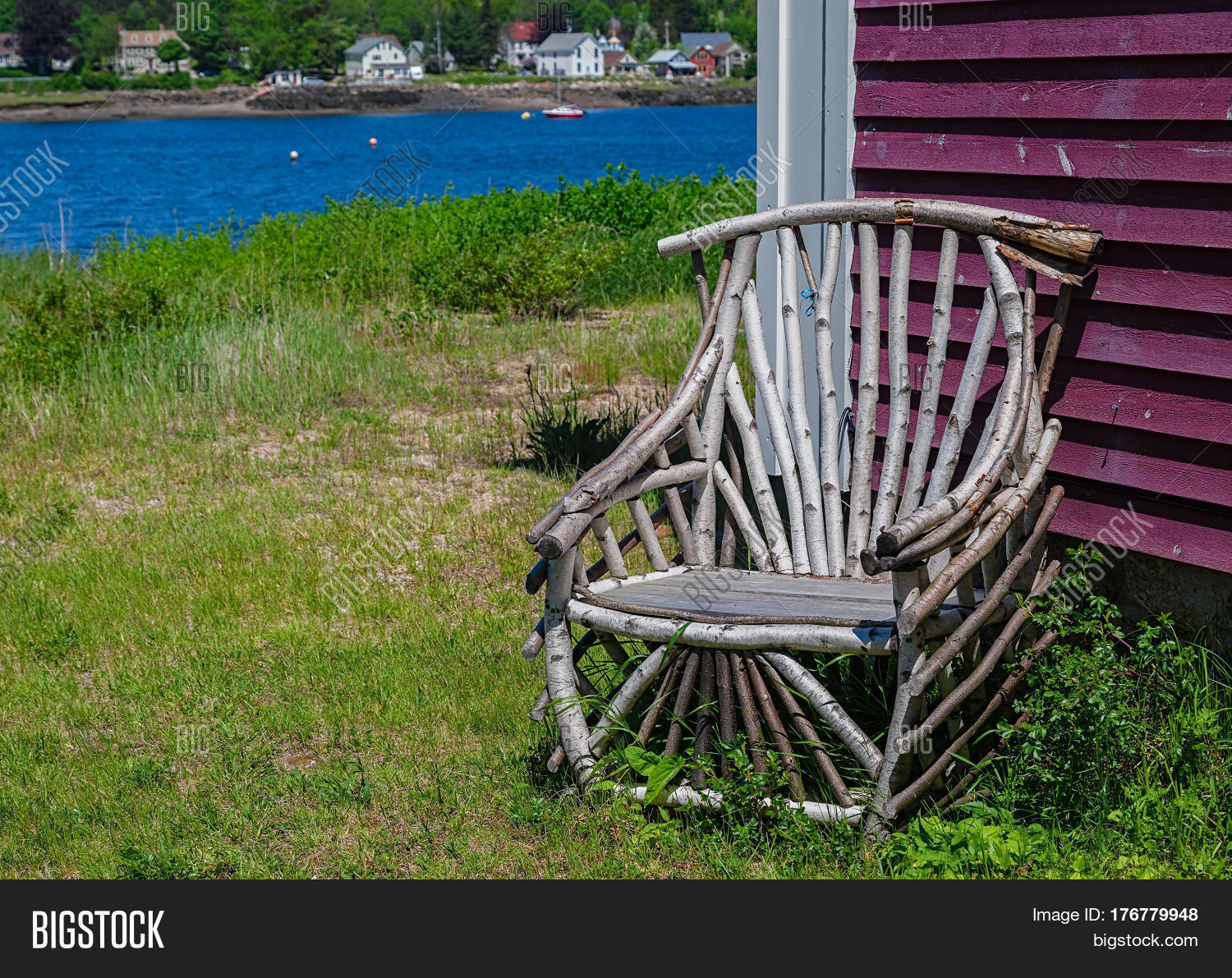 Rustic Wooden Chair Image Photo Free
