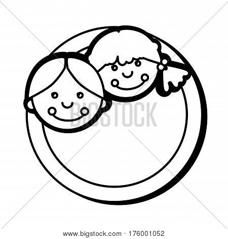 cute rag dolls icon vector illustration design