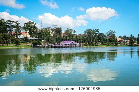 Landscape Of Xuan Huong Lake In Dalat, Vietnam