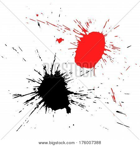 Vector illustration with a blot, ink stain, paint. Grunge background