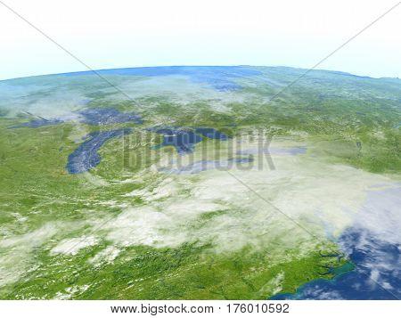 Big Lakes On Planet Earth