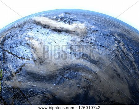 Pacific Ocean On Earth - Visible Ocean Floor