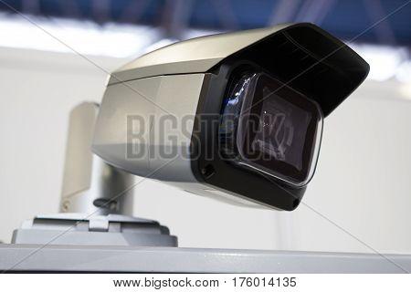 cctv - Video surveillance camera with robotic control, close up