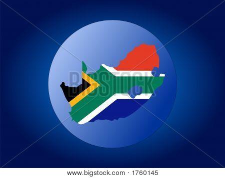 South Africa Globe