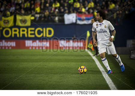 VILLARREAL, SPAIN - FEBRUARY 26: Marcelo Viera Da Silva during La Liga match between Villarreal CF and Real Madrid at Estadio de la Ceramica on February 26, 2017 in Villarreal, Spain