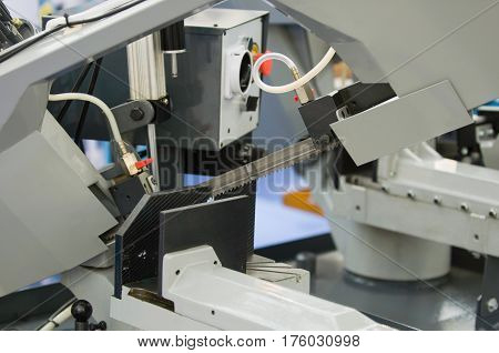 Automated saw infactory, color image, horizontal image