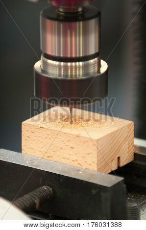 Drill Press Close-up, Close Up, Color Image, Vertical Image