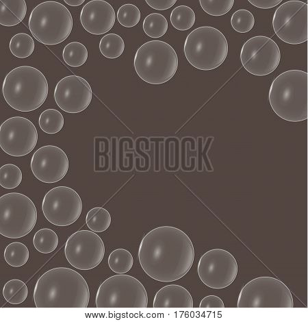 Air bubbles in porous chocolate of different sizes. Place under the text