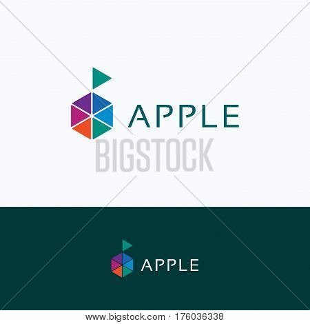 Apple Hexagon Company Logo