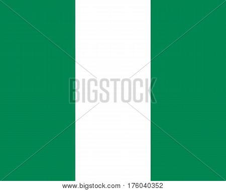 Colored Flag Of Nigeria