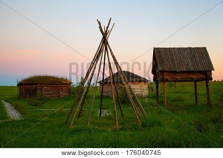 Dugouts, semi-dugouts, hut, dwellings of the Northern peoples of Russia.