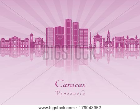 Caracas V2 Skyline In Purple Radiant Orchid [convertido]