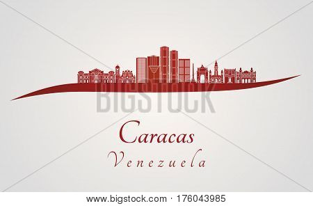Caracas V2 Skyline In Red