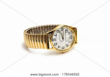wristwatch art style isolated on white background