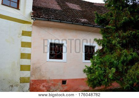 Typical house in the village Ghimbav. The town was first mentioned in a letter written in 1420 by King Sigismund of Luxembourg