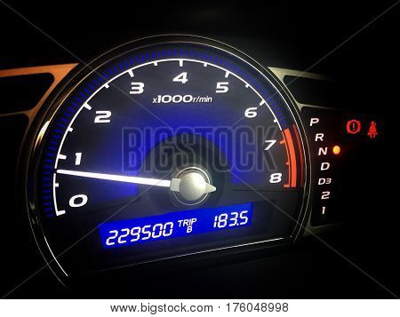 Mileage control display of the speed car