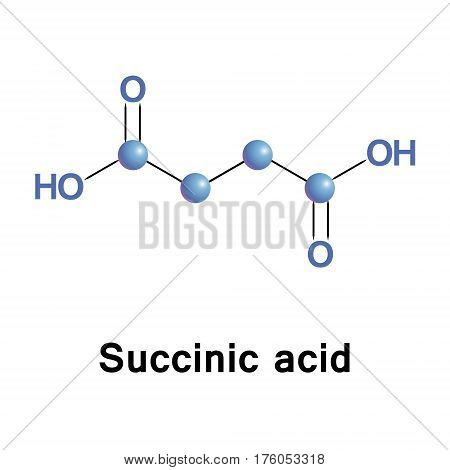 Succinic acid is a dicarboxylic acid, it takes the form of an anion, succinate, which acts as a metabolic intermediate and as a signaling molecule reflecting the cellular metabolic state