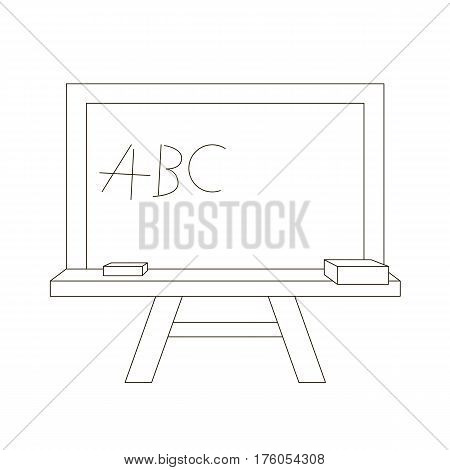 Board cartoon. Outlined object with black stroke.