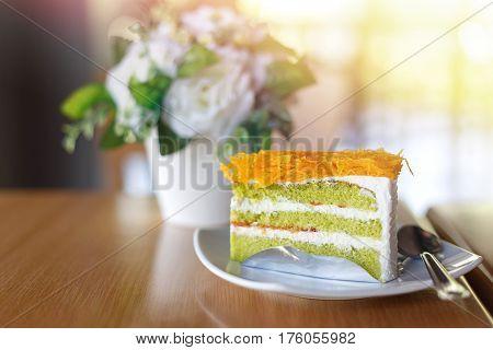 Piece Of Pandan Cake