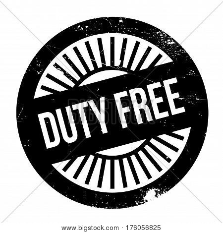 Duty free stamp. Grunge design with dust scratches. Effects can be easily removed for a clean, crisp look. Color is easily changed.