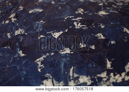 Blue and white decorative background. Texture putty. Place for inscription.